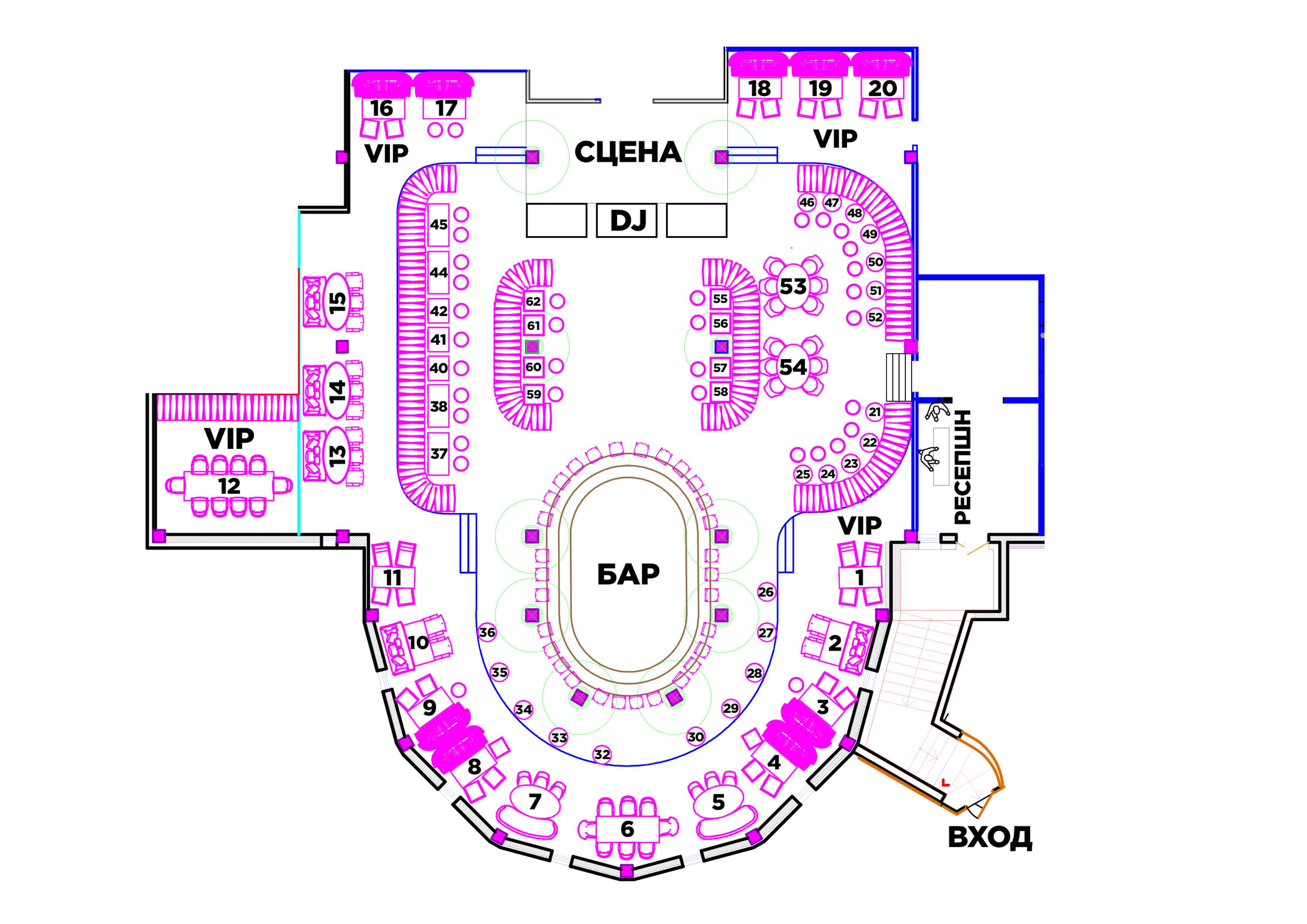 Схема-зала
